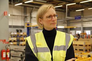– Det här företaget, liksom väldigt många i Västmanland och hela Sverige, är väldigt exportberoende, konstaterade Åsa Eriksson.