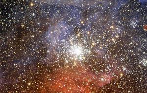 Stjärnhopen NGC 2100 och allt annat i universum kan inte ha skapats utan att Gud varit inblandad, skriver Bo Westin. Foto: ESO