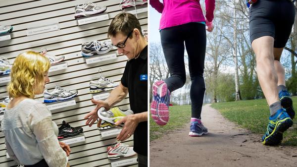Att välja rätt träningsskor kan vara svårt. Främst bör du välja skor som passar dig och dina behov.Bild: Marc Femenia/TT, Jessica Gow/TT
