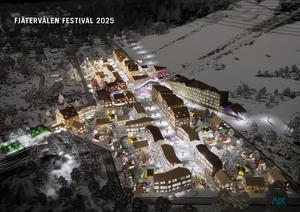 Så  här ser planerna för Fjätervålens centrumanläggning ut.