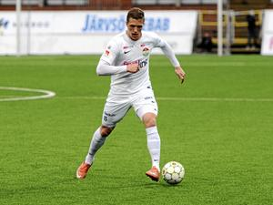 Alexander Ekblad, nyförvärv från Dalkurd, spelade 45 minuter mot Jönköpings Södra.