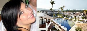 Jessica Hedberg och hennes familj fick söka skydd på hotellets tak när tsunamivarningen kom.