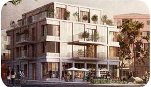 Förslag till bebyggelse med aktiva bottenvåningar. Illustration ur planprogrammet