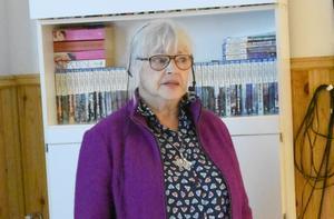Eva Sundin berättade om Martha Hedman. Foto: Karin Haxner
