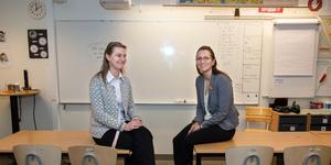 Lärarna Ingrid Gustafsson och Paulina Hiltunen på Tuppkärrsskolan.