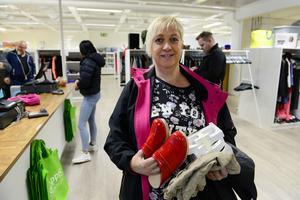 Kristina Widell har flera besök på Shoppis bakom sig och hittade en del grejer även denna gång.