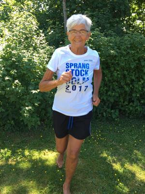 En bild från Anita när hon tränade inför förra årets Stockholm maraton. Foto Privat