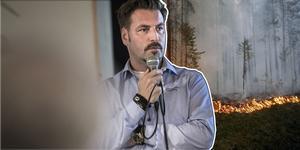 Joel Isensköld är chef för samordningskansliet som nu har löst frågan om ersättning för de brandgator som röjdes i samband med branden i somras.