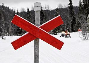 Åre kommunfullmäktige ska fatta beslut om nya kommunala regleringsområden för terrrängkörning på snötäckt mark. Enligt länsstyrelsen är privat mark just nu helt oreglerad. Foto: Sara Johansson