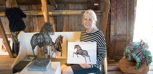 Susanne Arnfridsson välkomnar i år 12 konstnärer till Nebulosa gård att ställa ut tillsammans med henne. Här brukar besökarna komma med filt och slå sig ner i gräset och njuta av försommaren efter att ha vandrat runt i den fina miljön i de gamla ladorna.