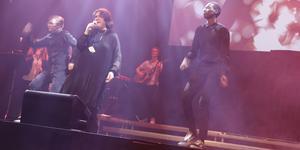 Pernilla Sagemo var första tävlande på scen vid fredagskvällens Funkismello.