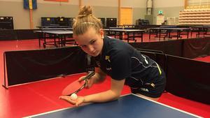 Hannah Holgersson tar nya idrottsliga kliv. Foto: Sven-Inge Grönqvist.
