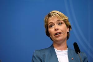 Socialförsäkringsminister Annika Strandhäll.Foto: Erik Simander / TT