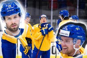 Dick Axelsson och Jonas Ahnelöv – de två man både vill och inte vill sitta med på ett flygplan, enligt vissa Tre Kronor-spelare.Foto: Bildbyrån