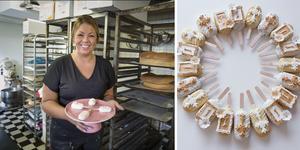 Evelina Birkic på Roffes konditori får allt oftare göra specialdesignade tårtor och cakesicles med religiösa dekorationer. Bild: Mattias Holgersson och Roffes konditori.
