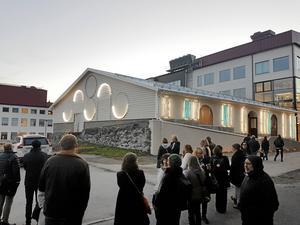 Den nya utsmyckningen lyser upp ismagasinet. Bild. Pernilla Nordström/Skifu
