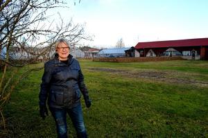 Pia Järudd berättar att 188 står i kö till de blivande lägenheterna bakom Willys.