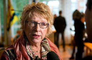 Ewa Lindstrand (S) tycker att det blev en lyckad dag med många fler besök än beräknat. Blid: Jan Olby.
