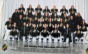 GULDGÄNGET! AIK dam av årgång 2012-13 vann SM-guld med bland andra Sabina Küller i laget.