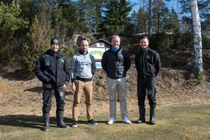 Stefan Johansson, banchef, Andreas Martinez, pro, Niclas Olofsson, klubbchef och Anton Åman, banförman.