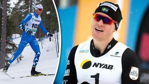 Oskar Svensson, till höger, tackar Daniel Rickardsson.