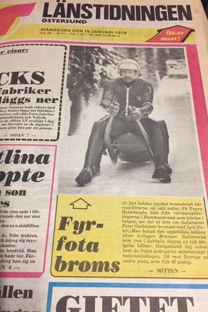 LT rapporterade om rodelvärldscupen i Hammarstrand.
