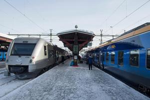 20 procent fler resenärer väljer att ta tåget till Sundsvall den här julen.
