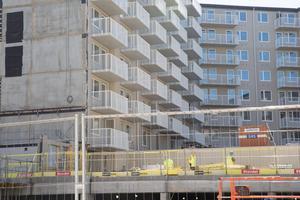 Kvarteret Sländan är ett av många nybyggen i Södertälje. Den stora ökningen av bostadsprojekt i kommunen handlar dock mestadels om projekt på ritbordet och det lär dröja innan de ser dagens ljus.