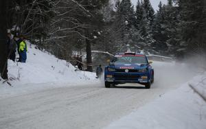 Johan Kristoffersson vann sin första seger nånsin i Rally-SM. Arkivbild.