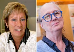 Rose-Marie Isaksson (S), ordförande i utbildningsnämnden, och Carina Schön, (S) vice ordförande i kommunstyrelsen.