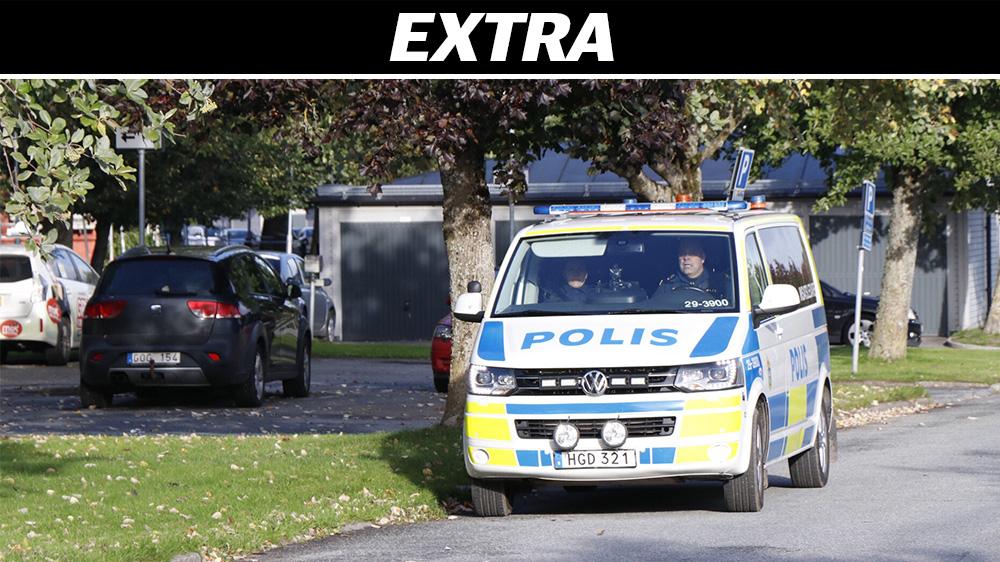 Stor polisinsats i stockholmsforort
