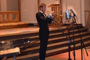 Lukas Johansson stod för trumpetspelandet.