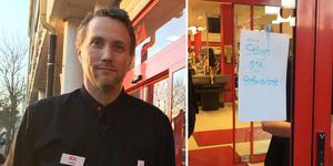 Butikschef Jonas Jansson på Ica Kryddan med personal klarade morgonens strömavbrott utan problem.