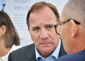 Statsminister Stefan Löfven. Foto: Gustav Sjöholm / TT