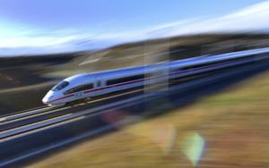 Höghastighetståget ICE i Tyskland kan köra upp till 300 kilometer i timmen. Foto: Martin Schutt/AP Photo