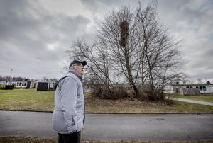 I flera år har Stig Eriksson sett det gigantiska skatboet växa fram, strax intill sin trädgård.