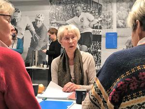 Förra friidrottaren Gunda Fernström reser ända från Stockholm för att delta i projektet. Under glansdagarna hette hon  Norrman och tävlade för IFK Kumla och svenska landslaget.