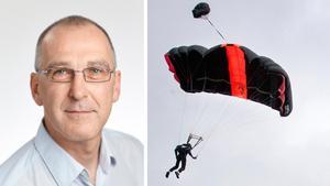 Robert Pantzar var en av flera som ryckte in och hjälpte vid olyckan. Hopparen på bilden är inte den hoppare som nämns i artikeln.