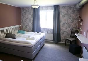 Alla rum är stora familjerum något som paret Berglund tror det är stor efterfrågan på.