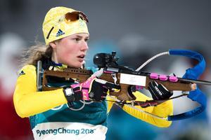 Hanna Öberg slutade femma i damernas jaktstart. Bild: Jon Olav Nesvold/Bildbyrån