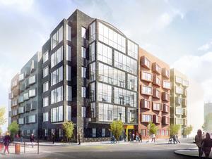 Öster Mälarstrands äldreboende blir klart  våren 2021. Bild: White arkitekter