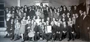 En större tillställning på Sörbygdegården under 50-talet.