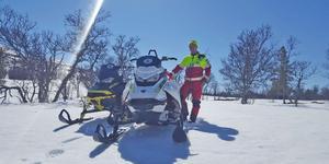 Jonas Stenberg är fjällräddare i Lofsdalen. Foto: Privat
