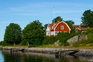 Astrid Lindgrens sommarhus i Furusund.