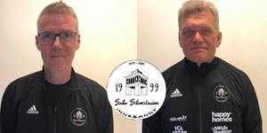 Nya tränarduon Tony Bertilsson och Jan Östlund.  Originalbilder: Sala Silverstadens facebook.