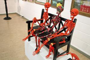 Tre skelett från Dalarna. Foto: Ulf Lundén