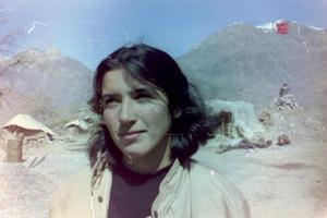 Amineh Kakabaveh som ung peshmerga.