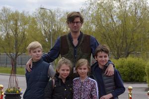 Claes De Faire, Gustaf De Faire, Siri De Faire, Vincent Ekberg och Tilda Tomgren. Foto: David Söder