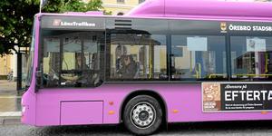 Snart är de lila bussarna ett minne blott i Örebro. Men de kommer leva vidare på andra platser, däribland Malmö och Baltikum. /Arkivfoto