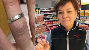 Malin Pettersson i Bräcke har efterlyst Bertils partner på butikens Facebooksida.